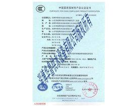 消防气体顶压CCC证书